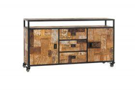 Wheels Dresser 2 doors, 3 drawers