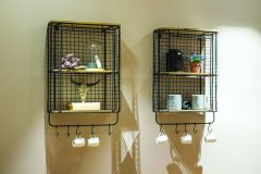 Arun Vintage Wall Rack black