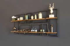 Raw wall rack rectangular