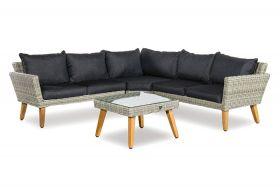 Sicilia loungeset met coffee table inclusief alle zit- en rugkussens
