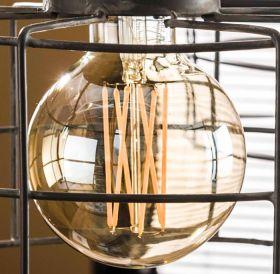 Lichtbron LED filament bol Ø9,5 - E27 4W 2100K dimbaar