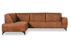 Hoekbank 'Riverwood' 2,5-zits met ottomaan | Preston 24 Cognac