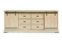 Harlow Dresser 2 sliding doors, 6 drawers